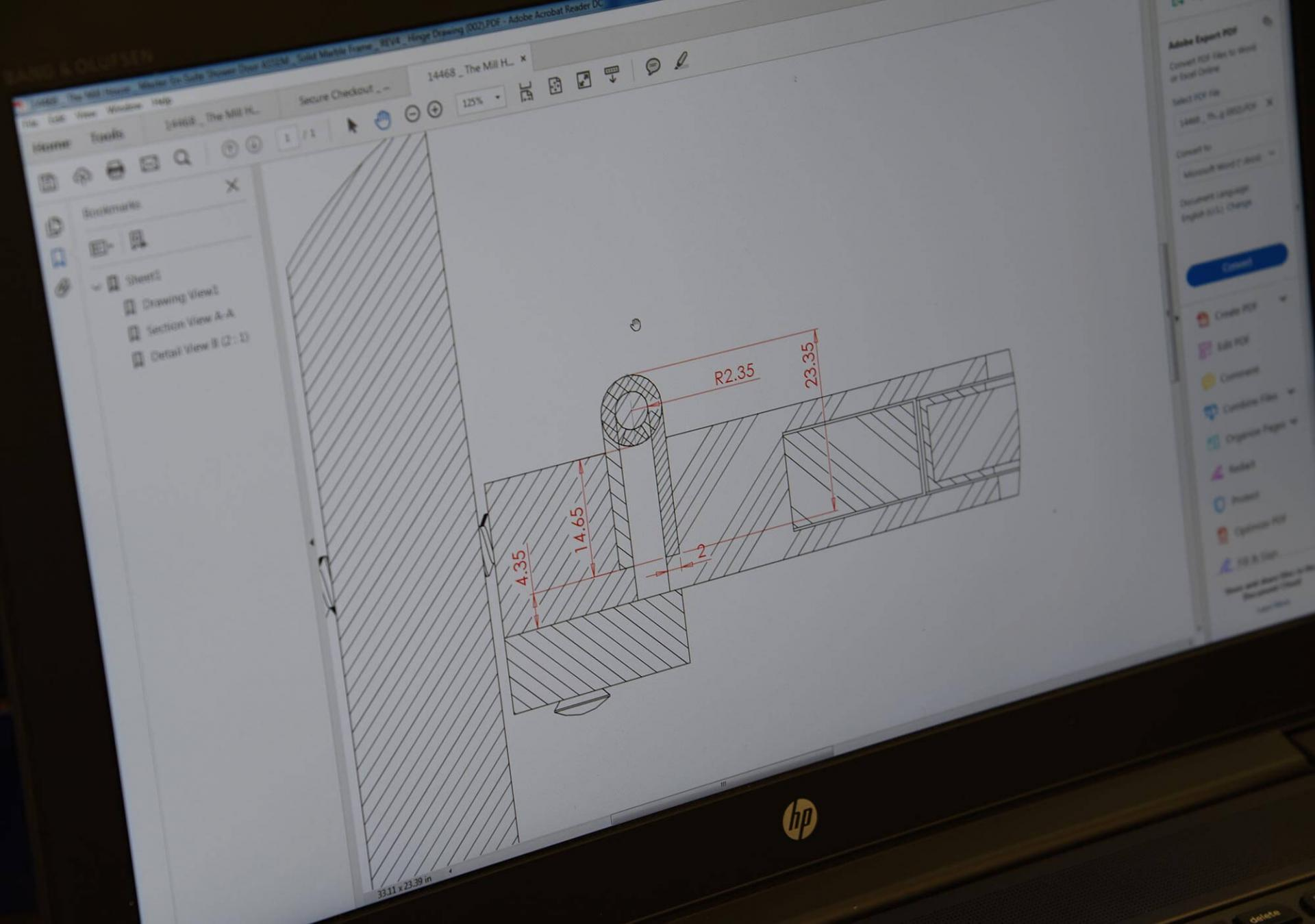 Collier Webb design drawing