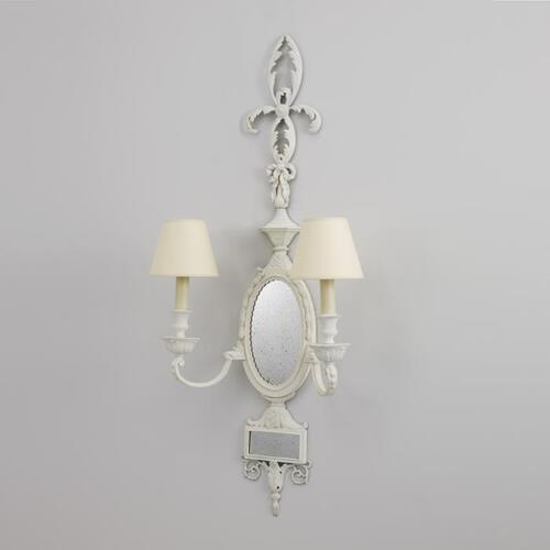 Adam style twin armed sconce by Collier Webb