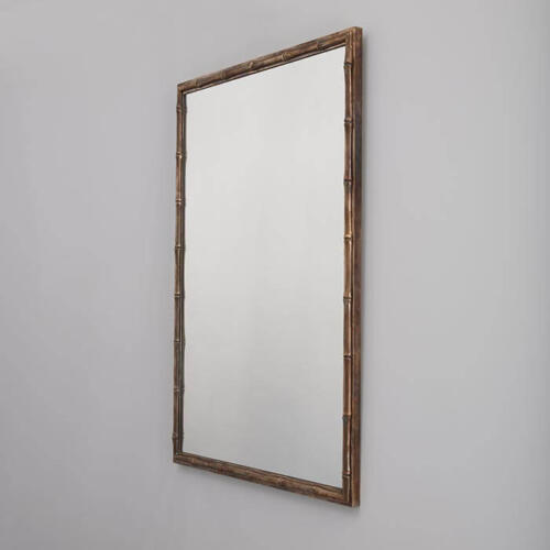 Bamboo Mirror, a bespoke brass framed mirror by Collier Webb
