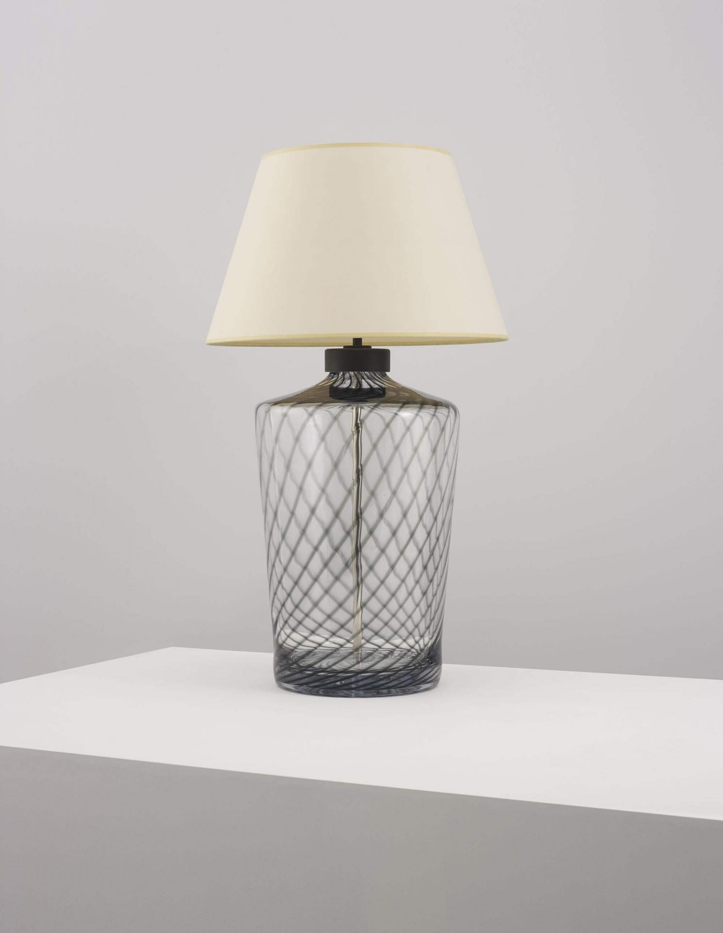 Blown glass table lamp by Collier Webb