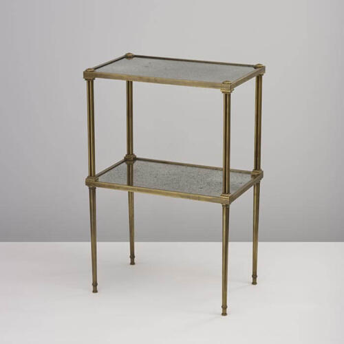 Carolyn Table, a bespoke metal and glass side table