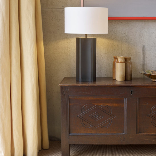 baratta brass table lamp by Collier Webb