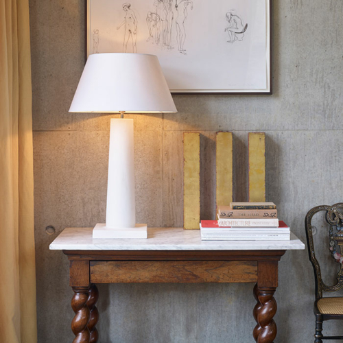 Frank plaster table lamp by Collier Webb