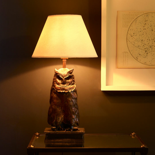 Owl lamp by Collier Webb