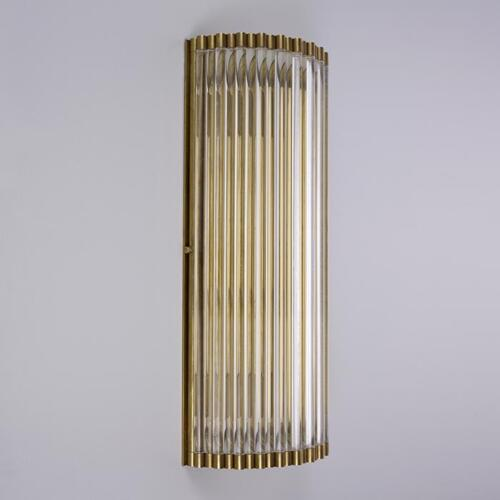 Crespi, wall light with glass rods by Collier Webb