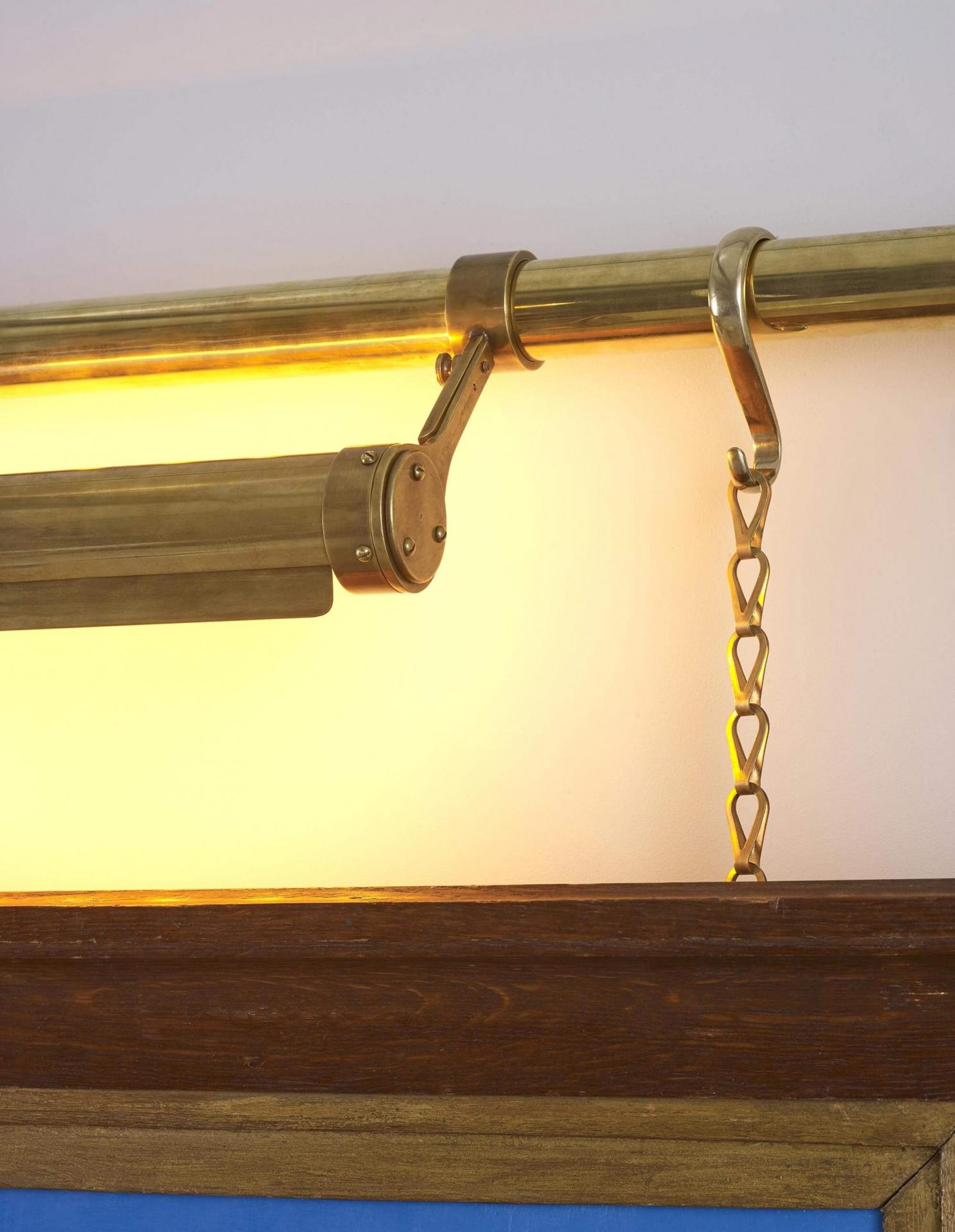 brass picture rail - art hanging solutions and picture lighting made to order by Collier Webb