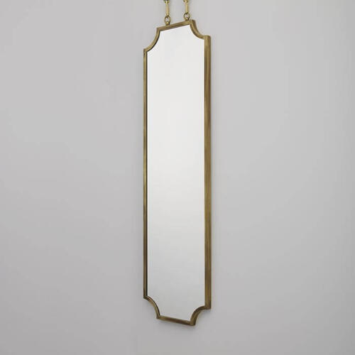 Scallop Mirror by Collier Webb - a brass framed mirror ideal for interior design projects