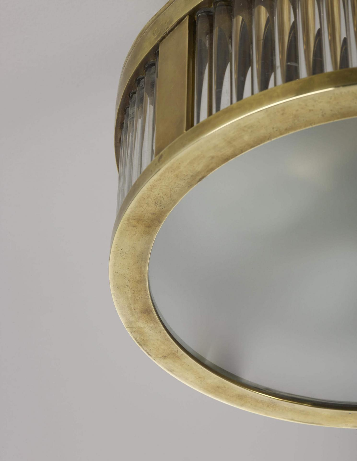 Small Round Odeon Plafonnier - a luxury ceiling light by Collier Webb