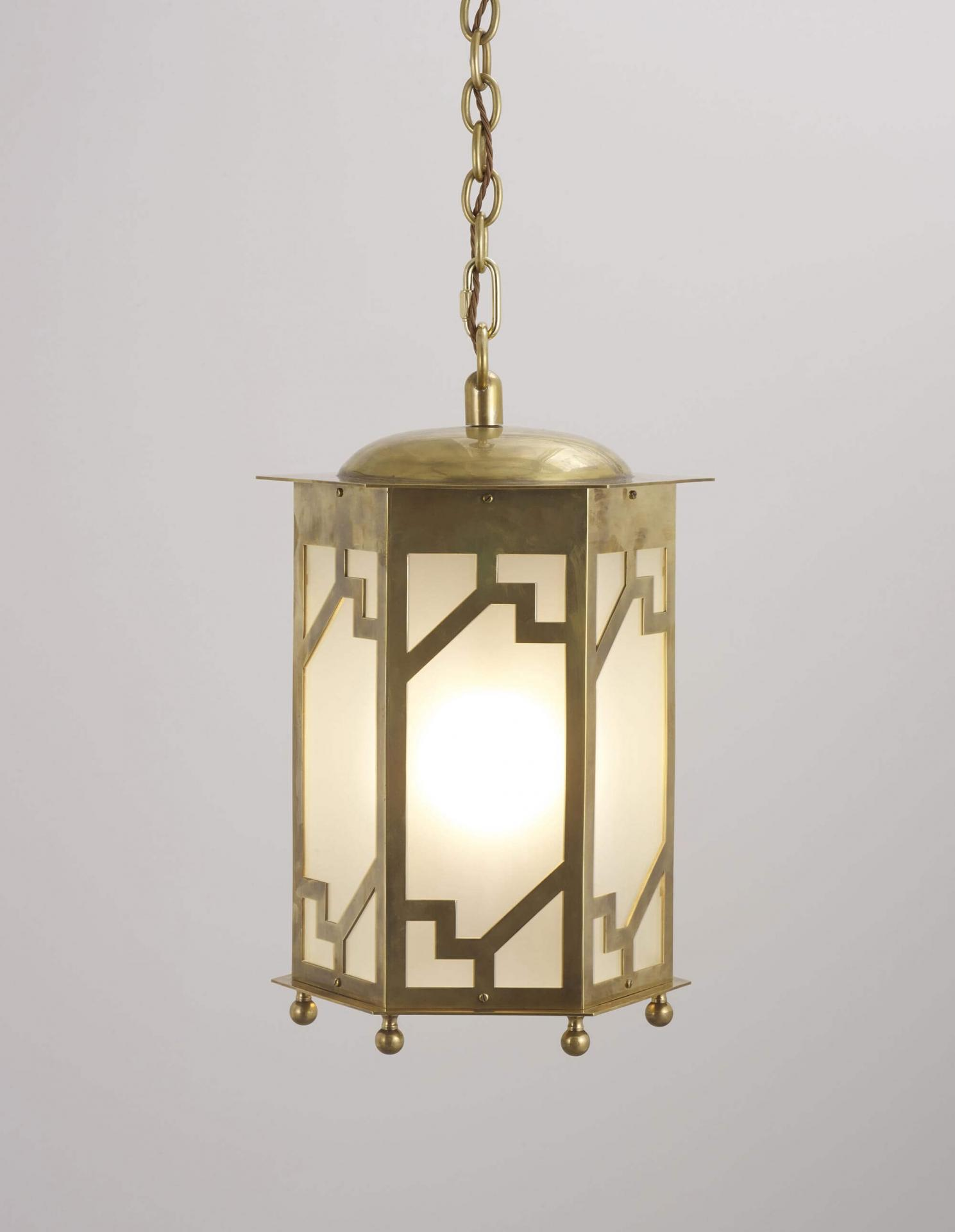 Steppe reproduction antique hanging lantern