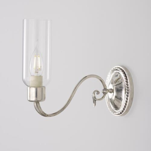 Swan sconce with glass shade by Collier Webb
