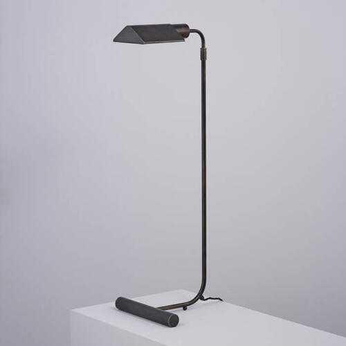 Mallet Floor Light - a brass floor lamp available in a number of metal finishes
