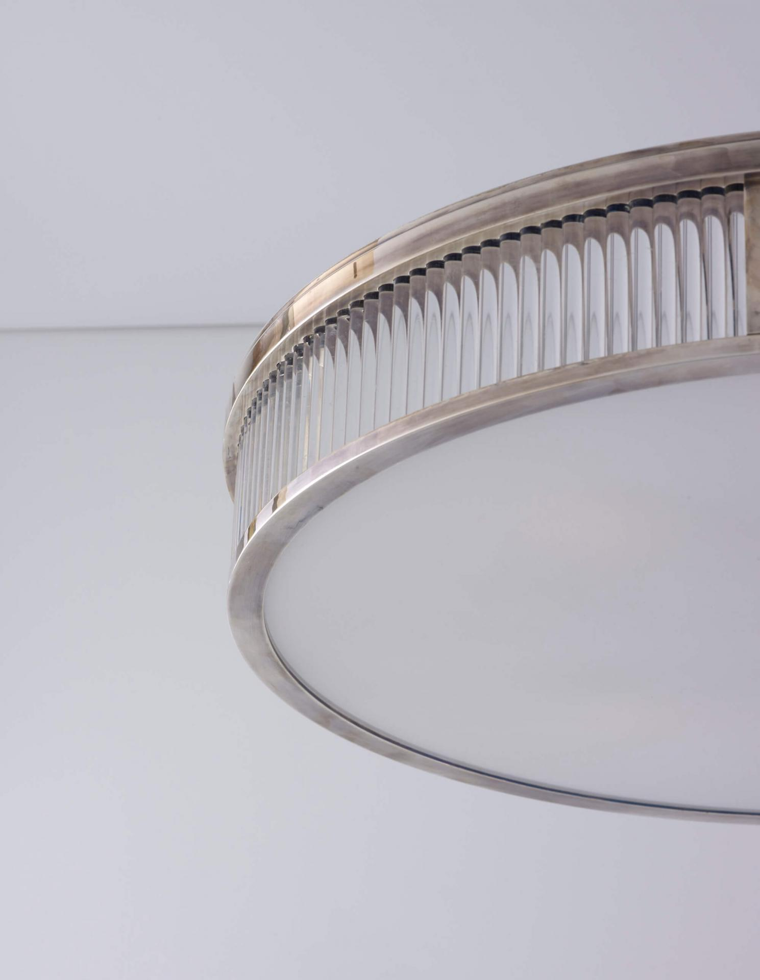 Large Round Odeon Plafonnier - Art Deco inspired lighting by Collier Webb