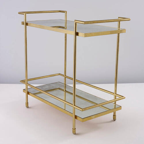 The Normandie Drinks Trolley, crafted from brass by Collier Webb
