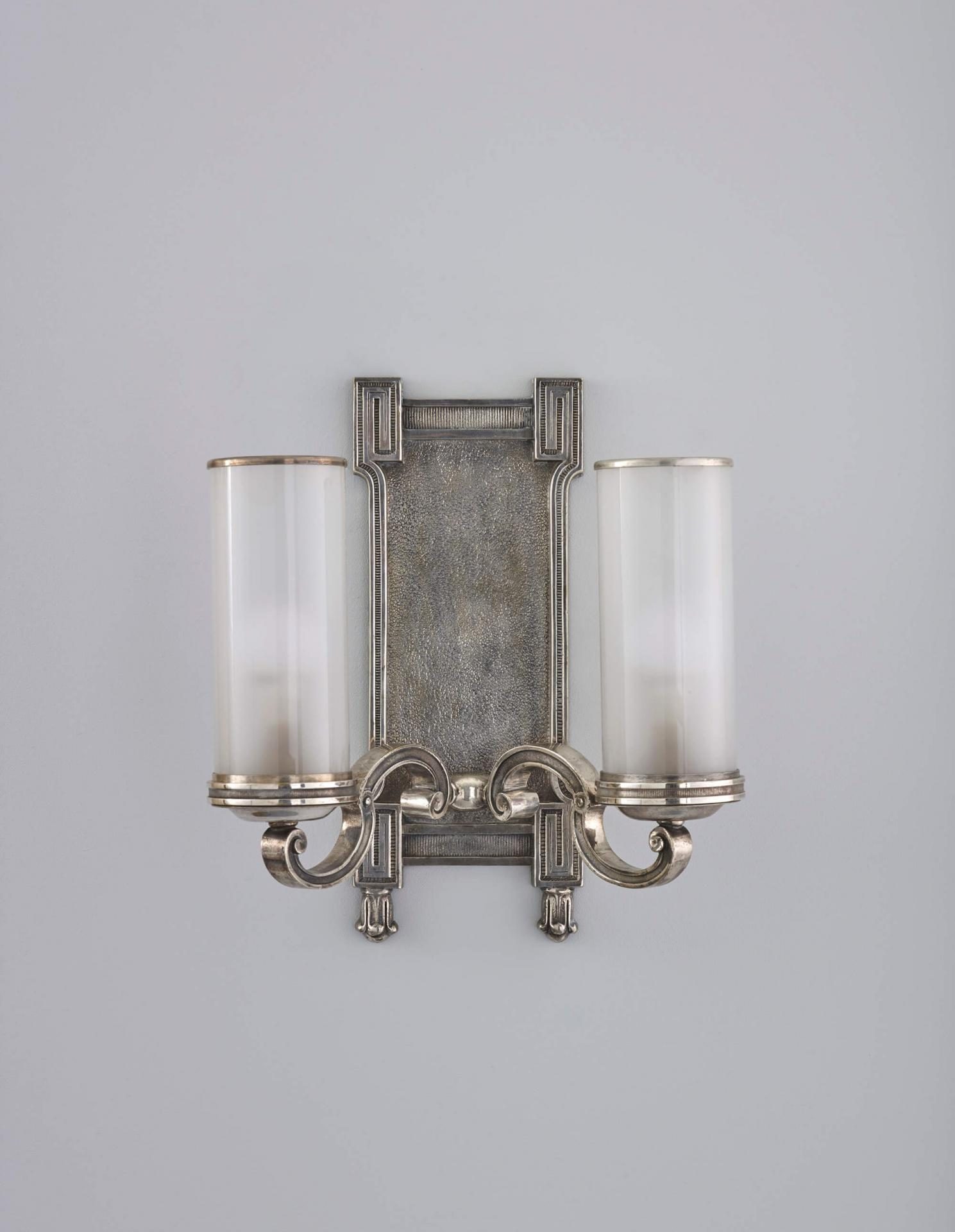 Antique reproduction twin arm wall sconce
