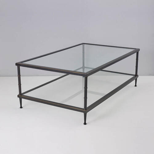 Ramsay Coffee Table, Brass and Glass Coffee Table by Collier Webb