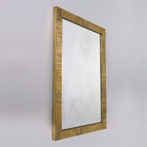 Strata Mirror, a brass mirror by Collier Webb