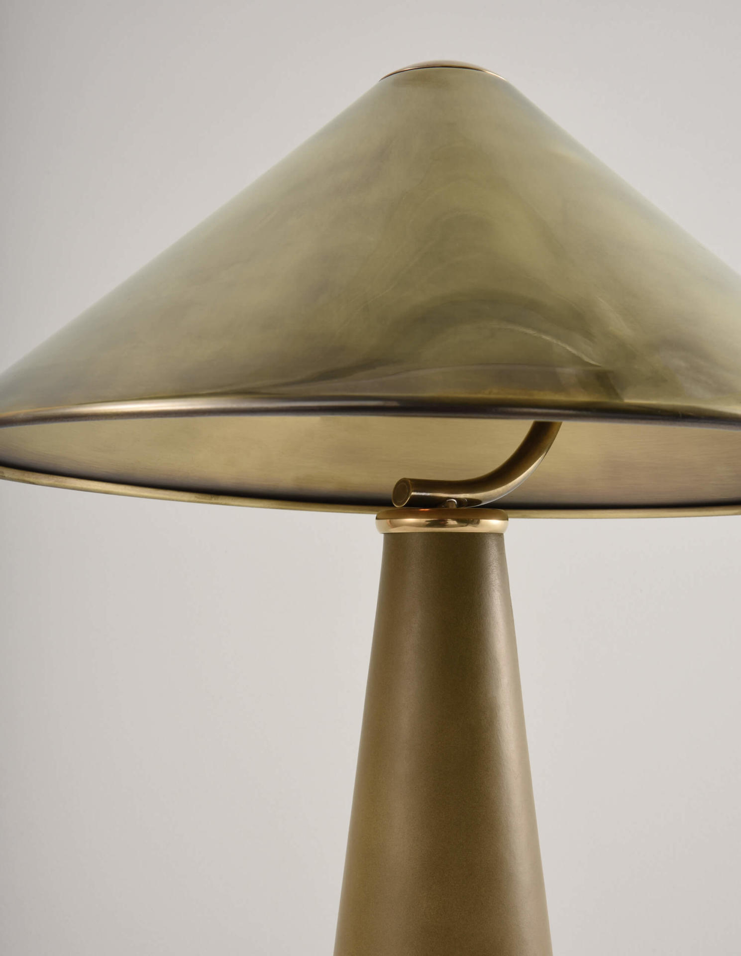leather wrapped table lamp Shitake by Collier Webb