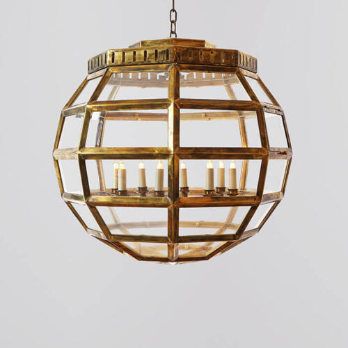 Armoury Globe Hanging Lantern - hanging globe lighting by Collier Webb