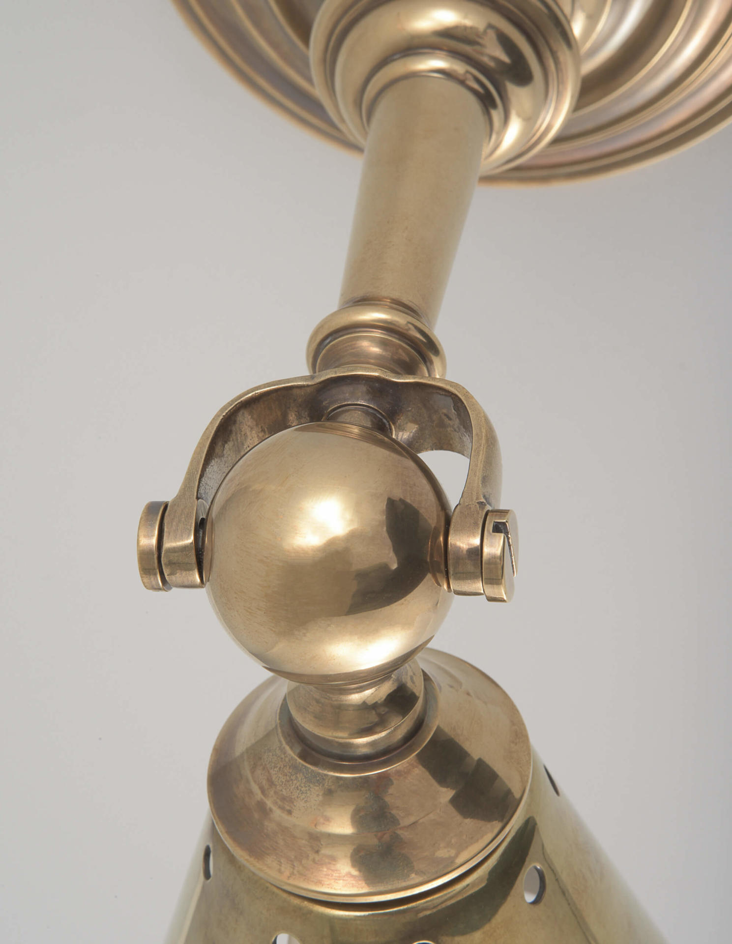 Clipper Task by Collier Webb - a rotatable brass cone wall light