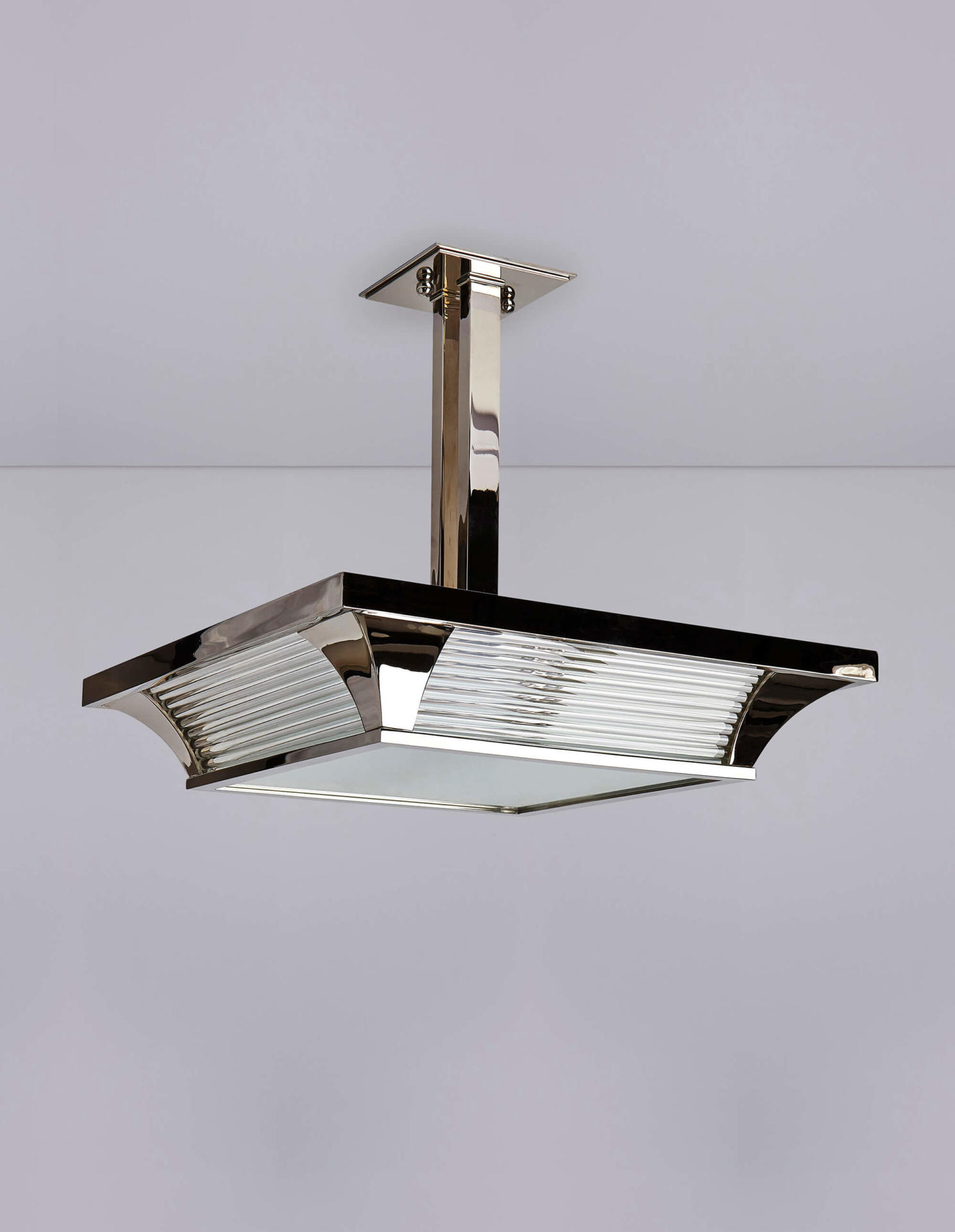 Square Odeon Plafonnier - an Art Deco inspired ceiling light by Collier Webb
