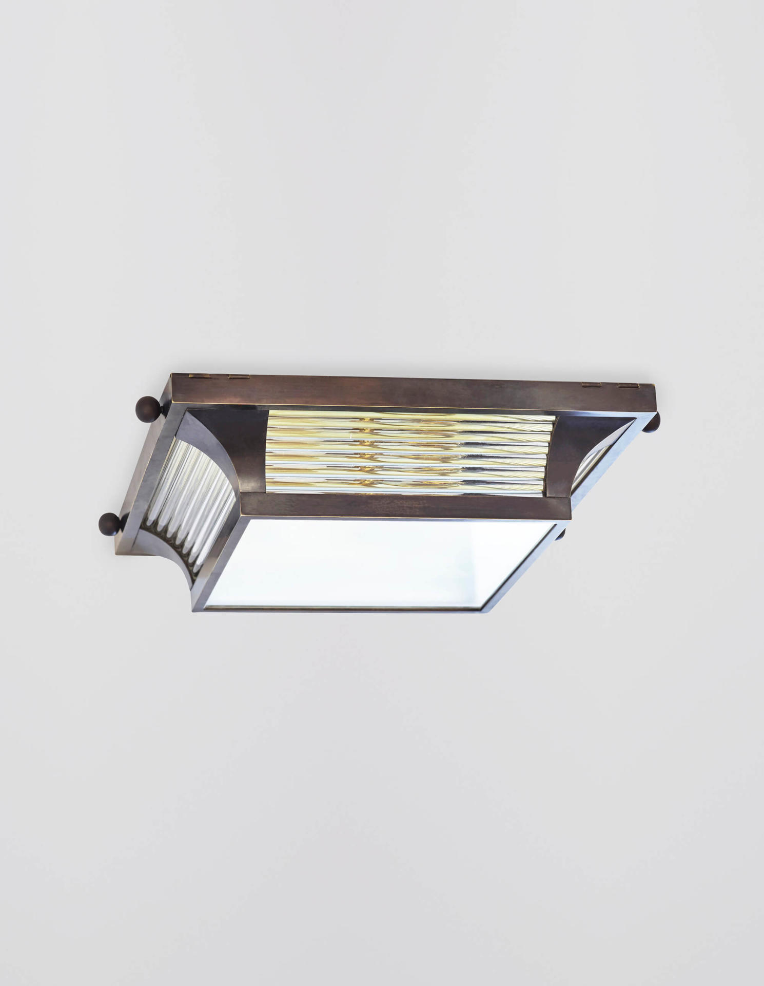 Square Odeon Flush Mounted - a flush mount Art Deco light by Collier Webb