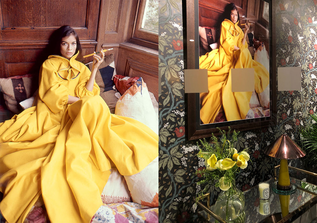 """Sophie Ashby's """"Legends"""" Window inspired by the Bianca Jagger photograph by Eva Sereny"""