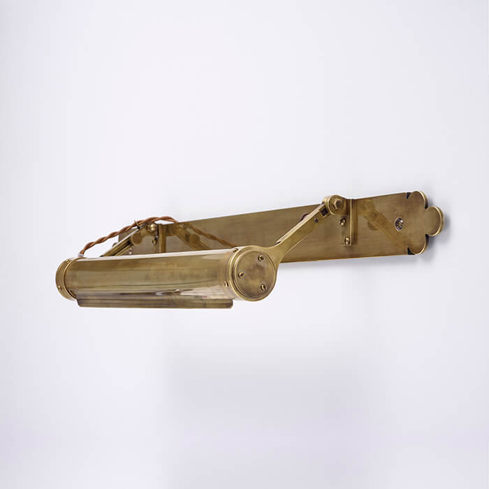 brass picture light by Collier Webb