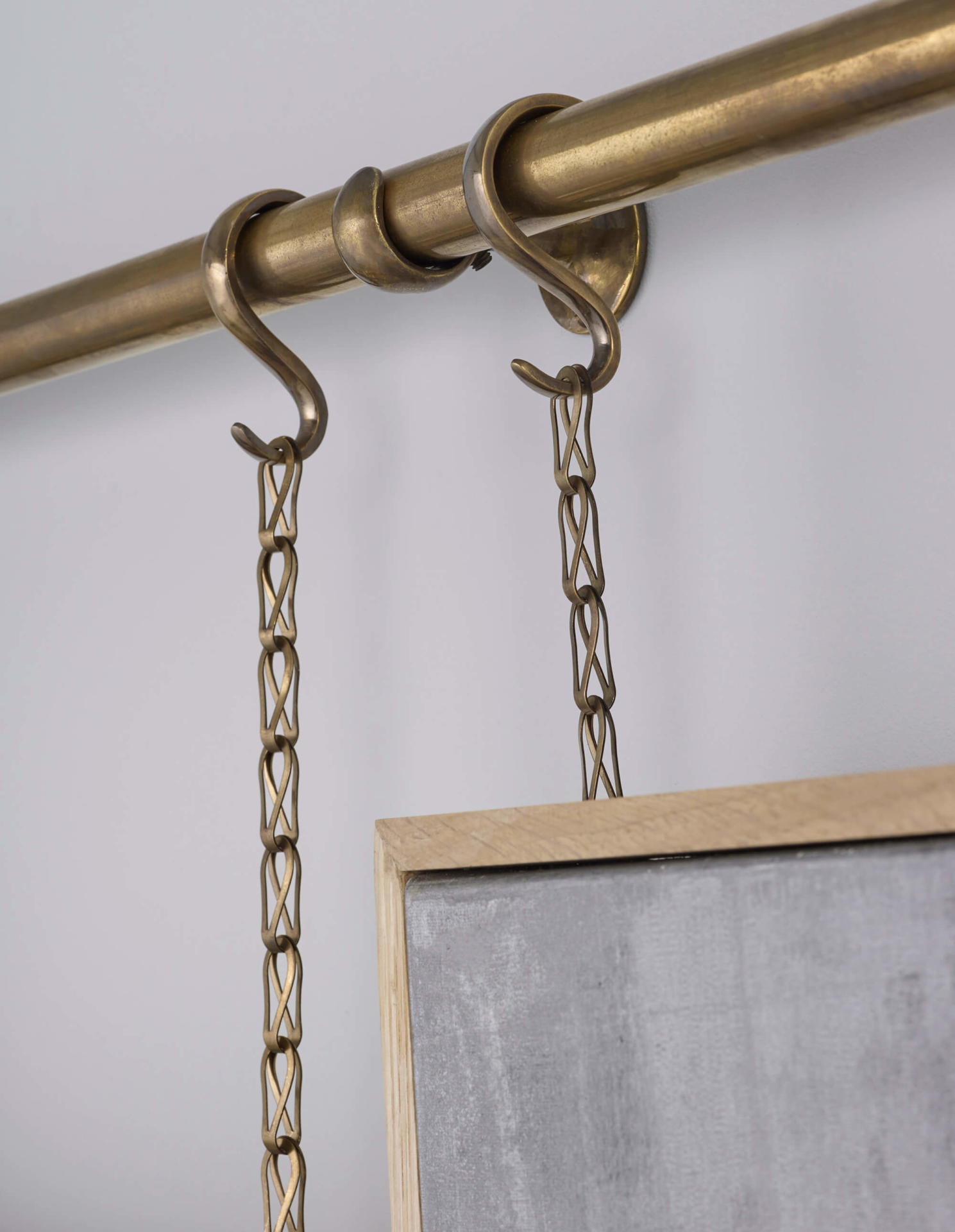brass picture chain and rail made to order by Collier Webb