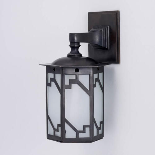 Steppe wall lantern by Collier Webb - an Art Deco style wall light
