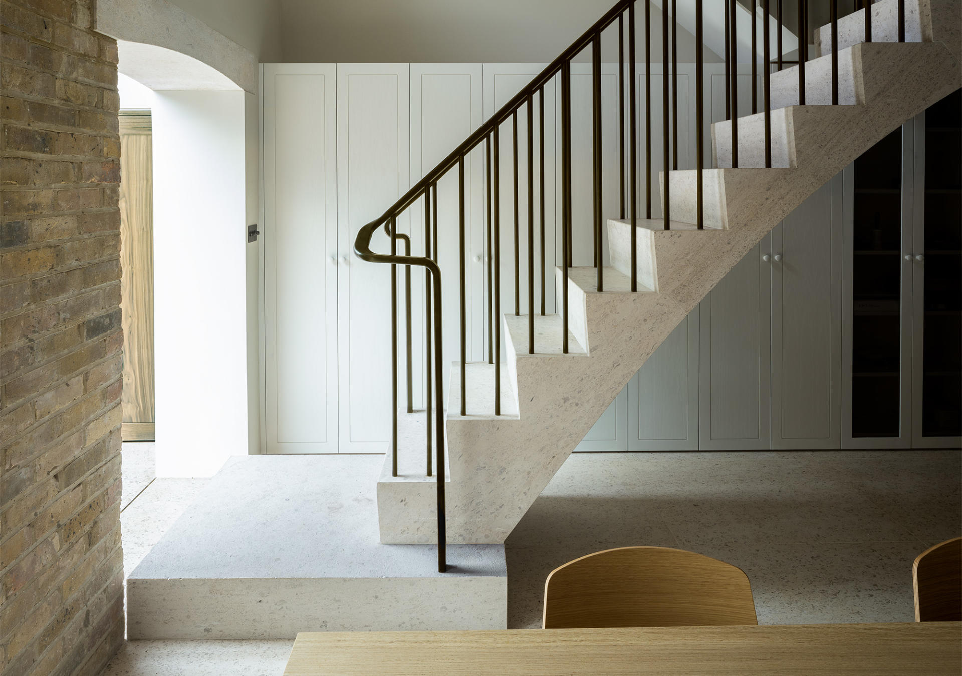 West Architecture Islington project featuring staircase balustrade made by Collier Webb