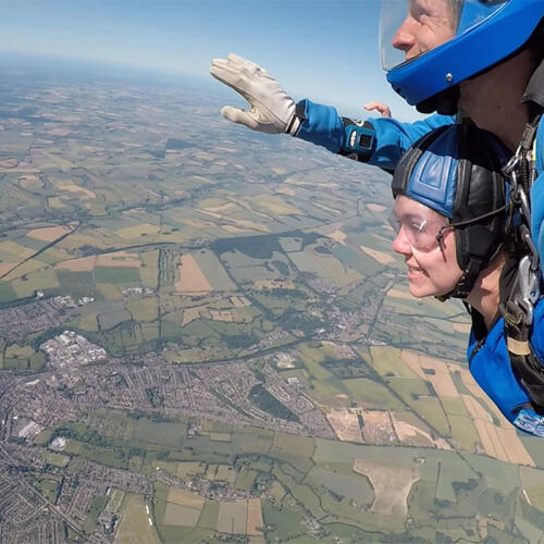 COLLIER WEBB SKYDIVE FOR MACMILLAN & SUSSEX HOMELESS SUPPORT
