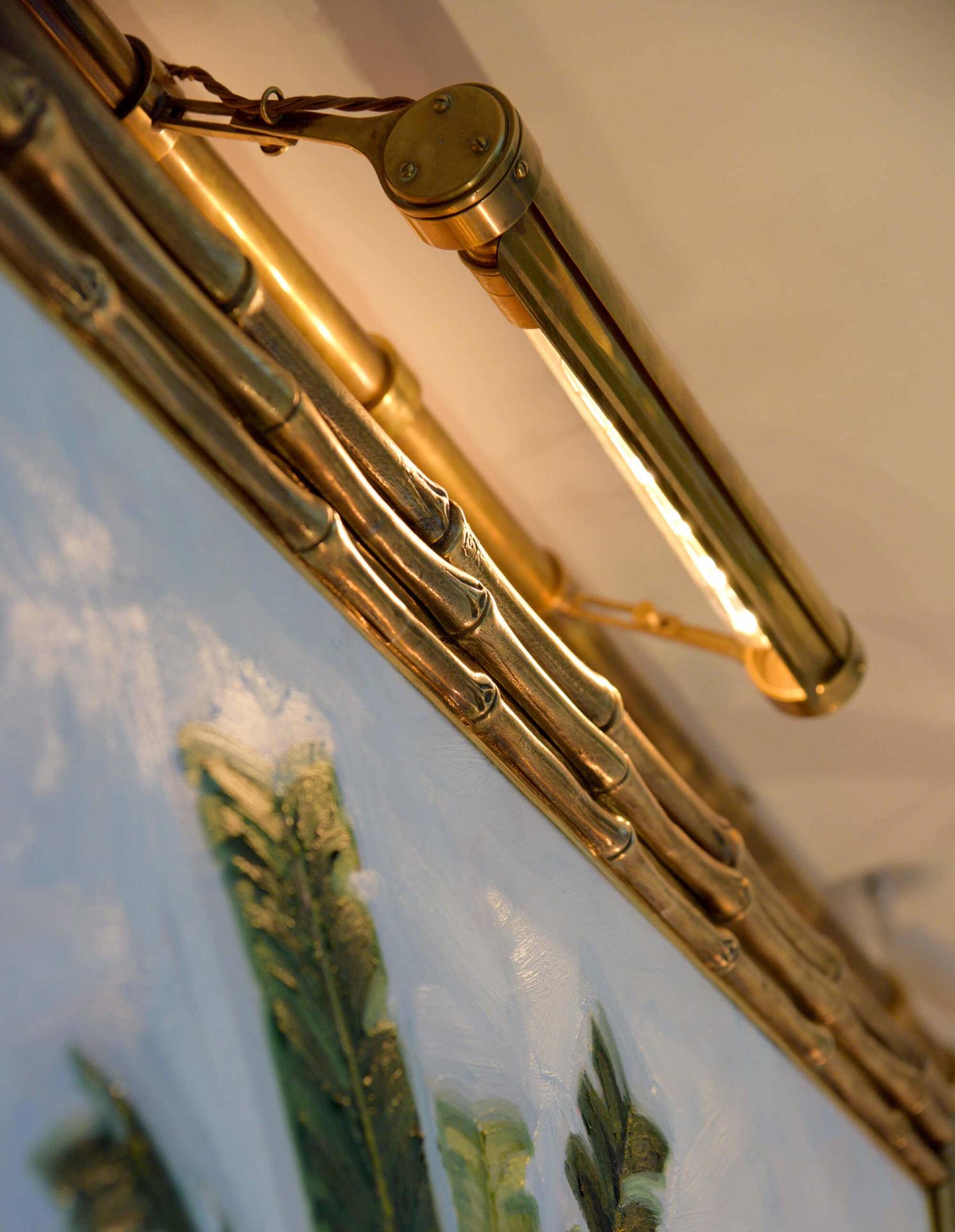 Bamboo Picture Frame X Samantha Todhunter Design bespoke brass picture frame