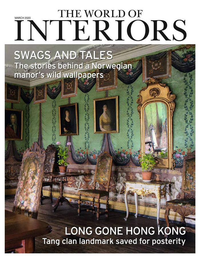 Edward Bulmer Curtain Tiebacks in The World of Interiors March 2020 by Collier Webb