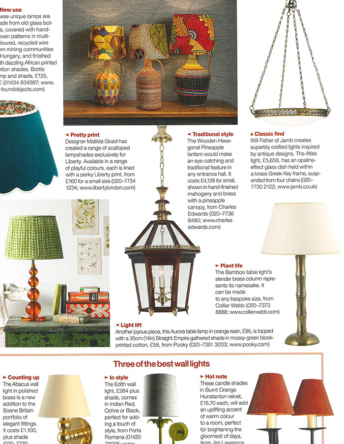 Collier Webb Bamboo Lamp in Country Life