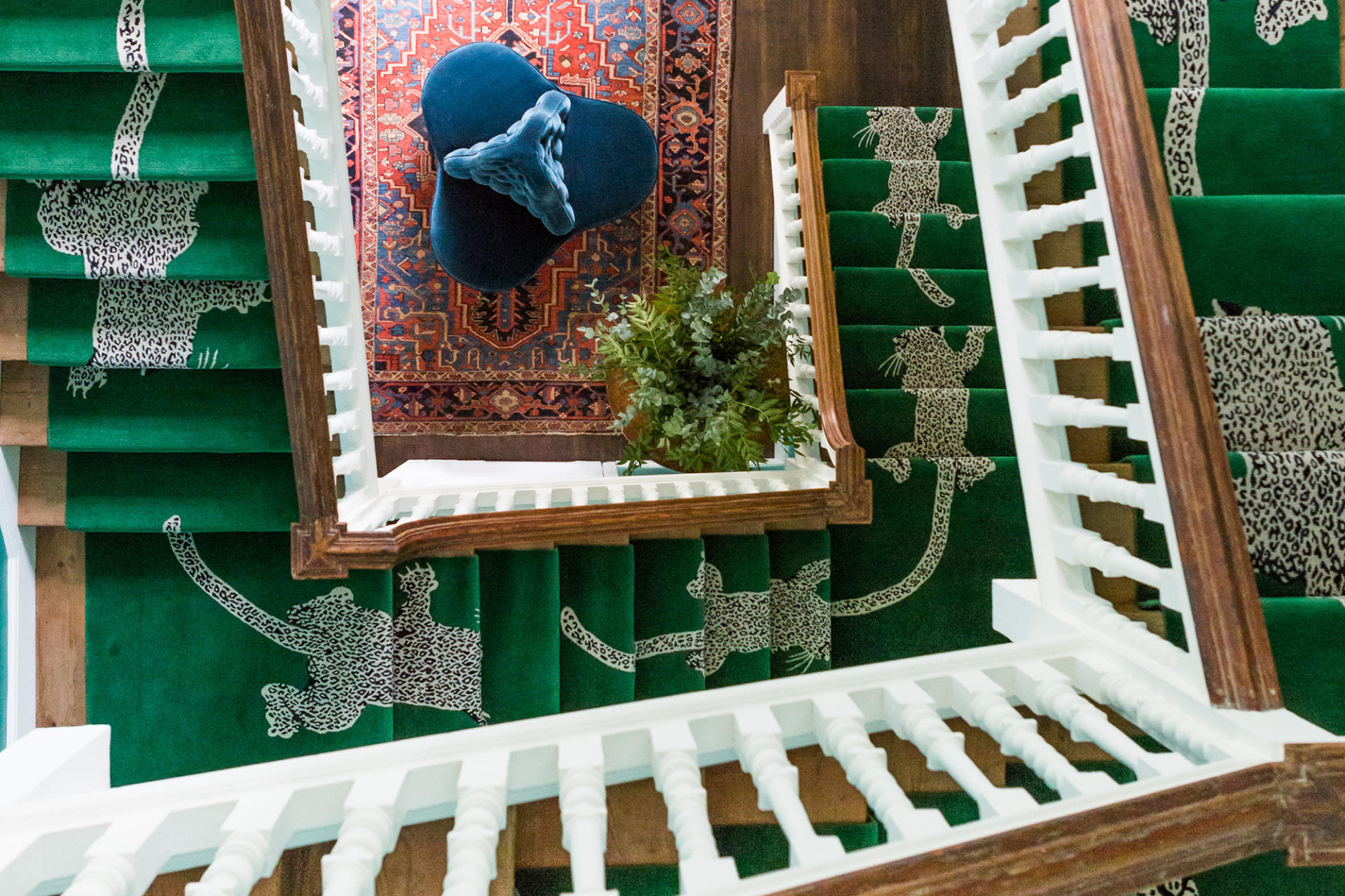 Climbing Leopard runner by DVF for The Rug Company at Samantha Todunter's home