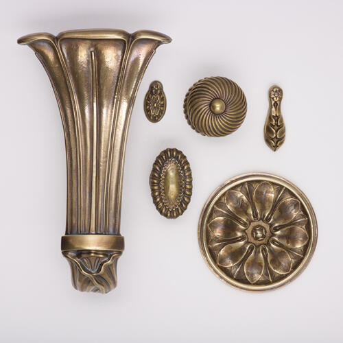 period door hardware and curtain tiebacks by Collier Webb and Edward Bulmer