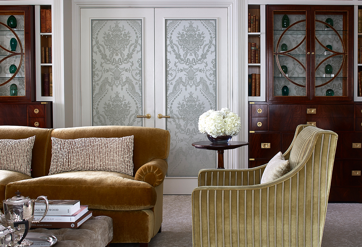 The Goring Royal Suite featuring bespoke wall coverings by Gainsborough