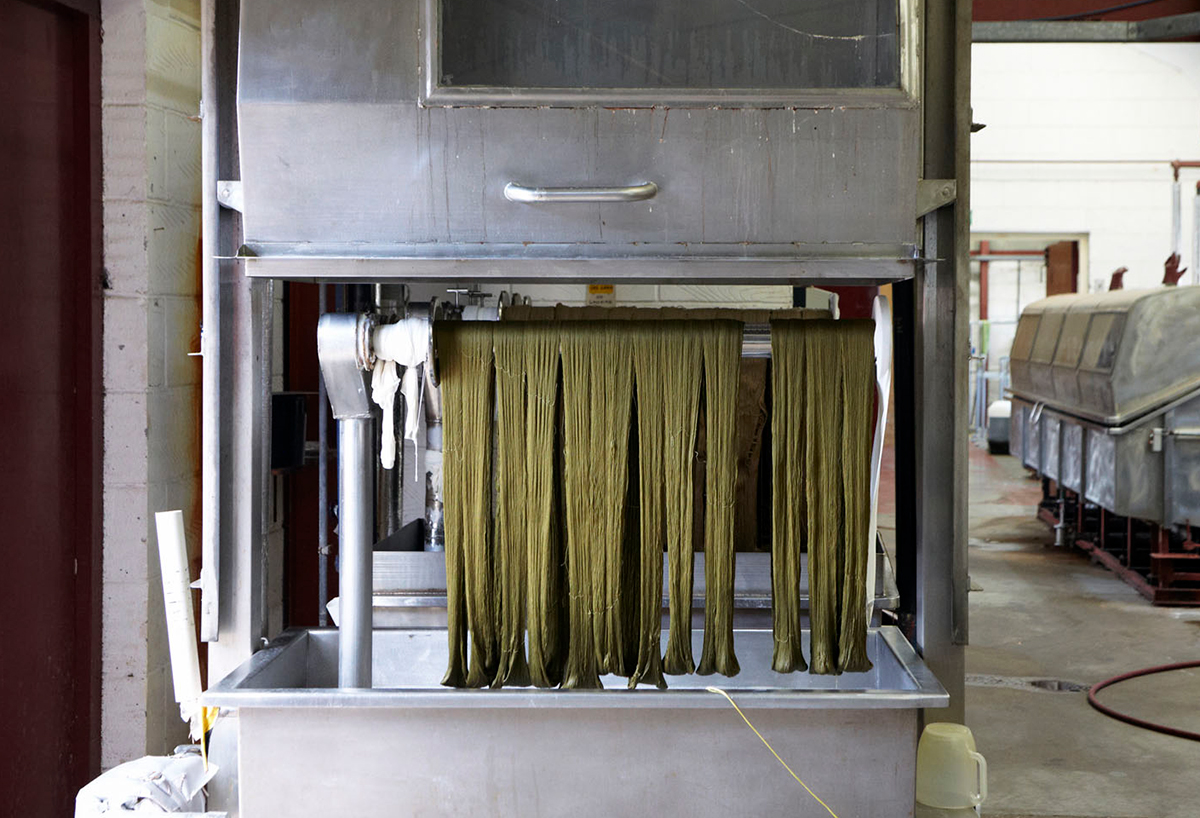 Sustainable fabric produced at the Gainsborough Mill in Sudbury