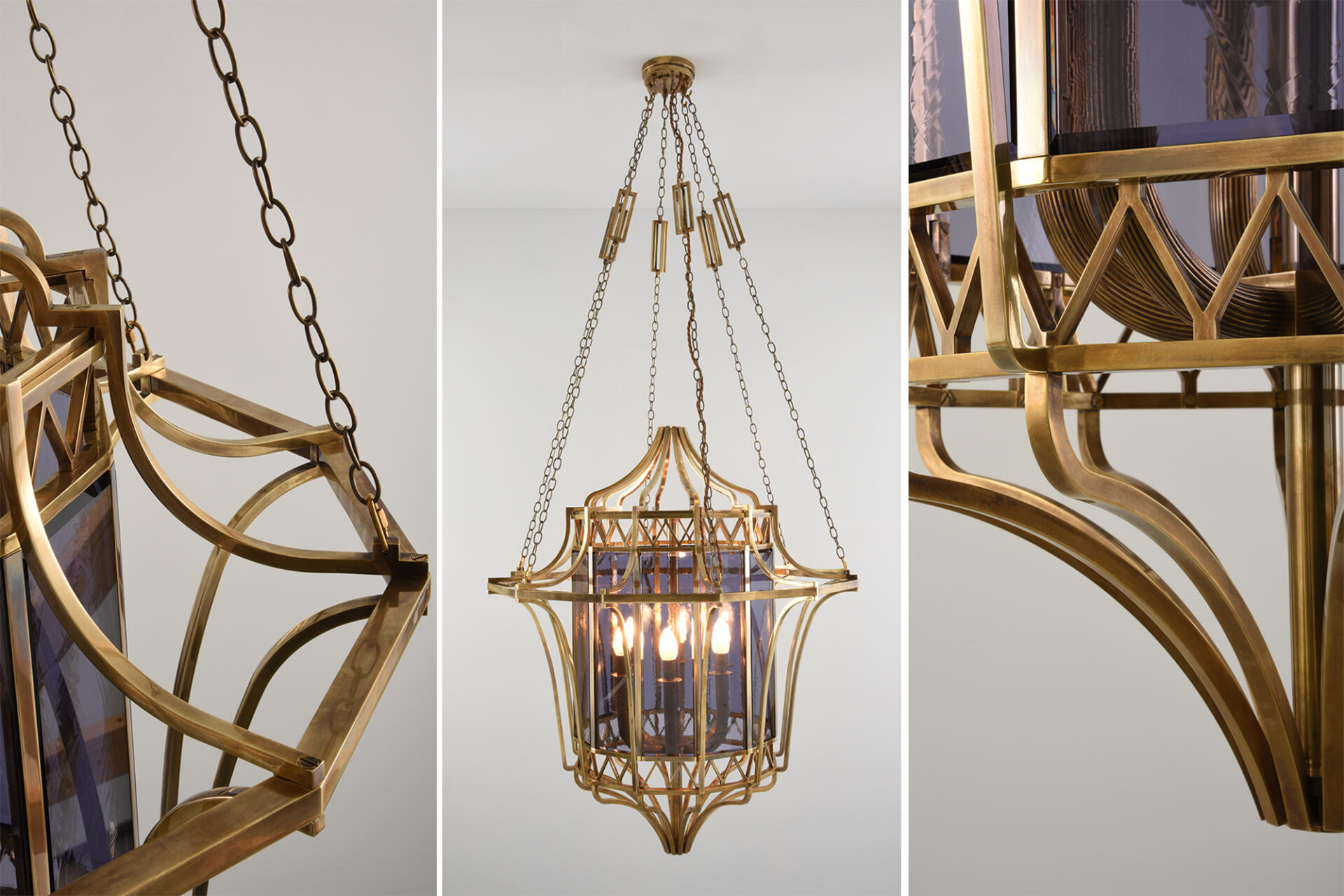 a bespoke lantern created at the Collier Webb foundry for Oro Bianco London