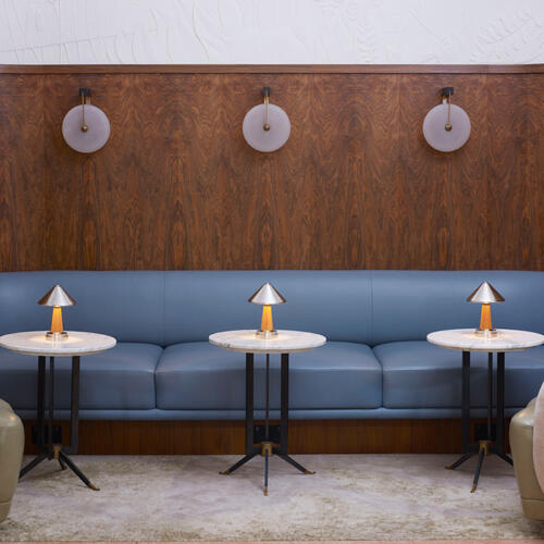Portable Collection by Collier Webb at the Berkeley Bar designed by Bryan O'Sullivan Studio