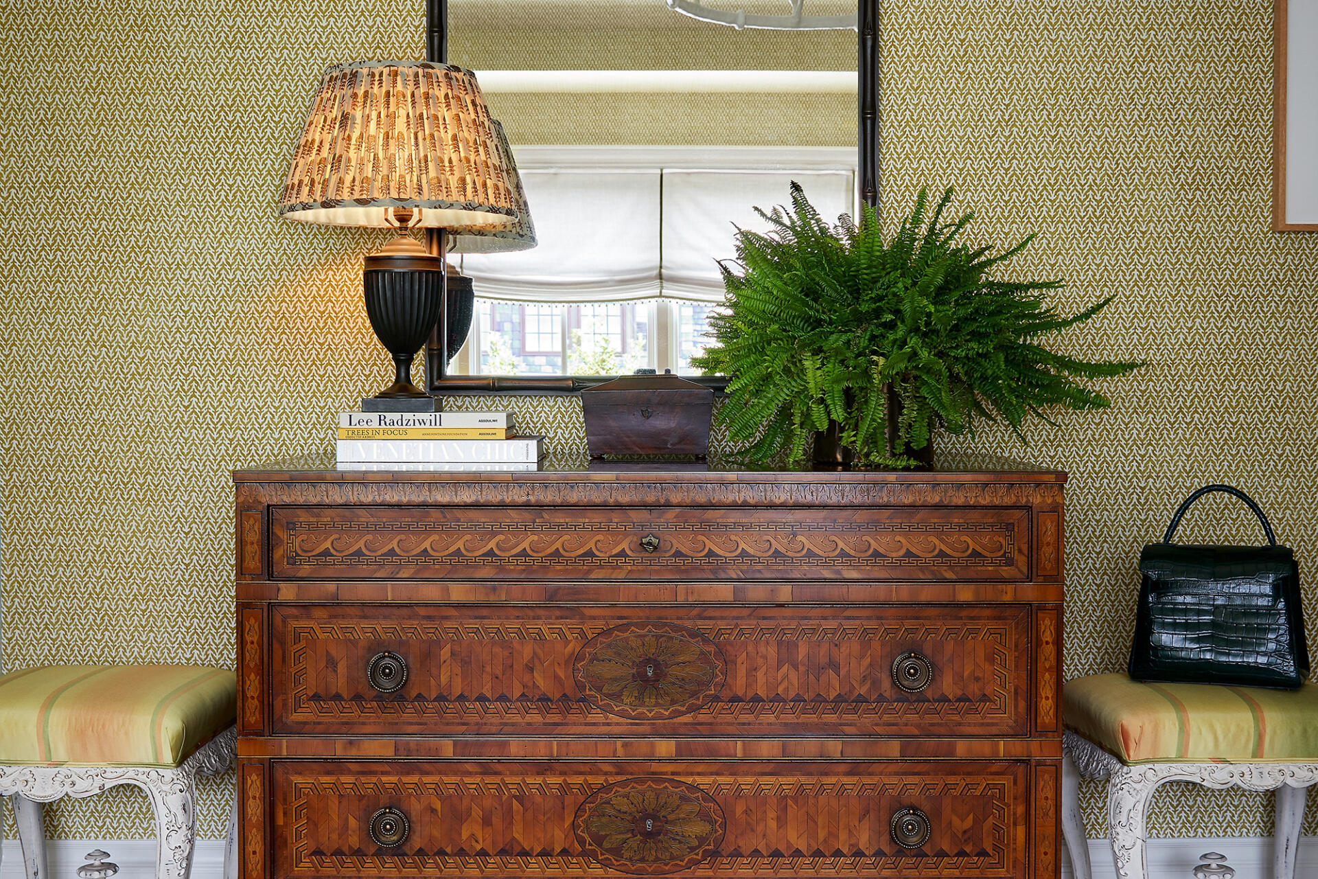 Collier Webb Bamboo Mirror in the Wells Design room for Kips Bay Dallas