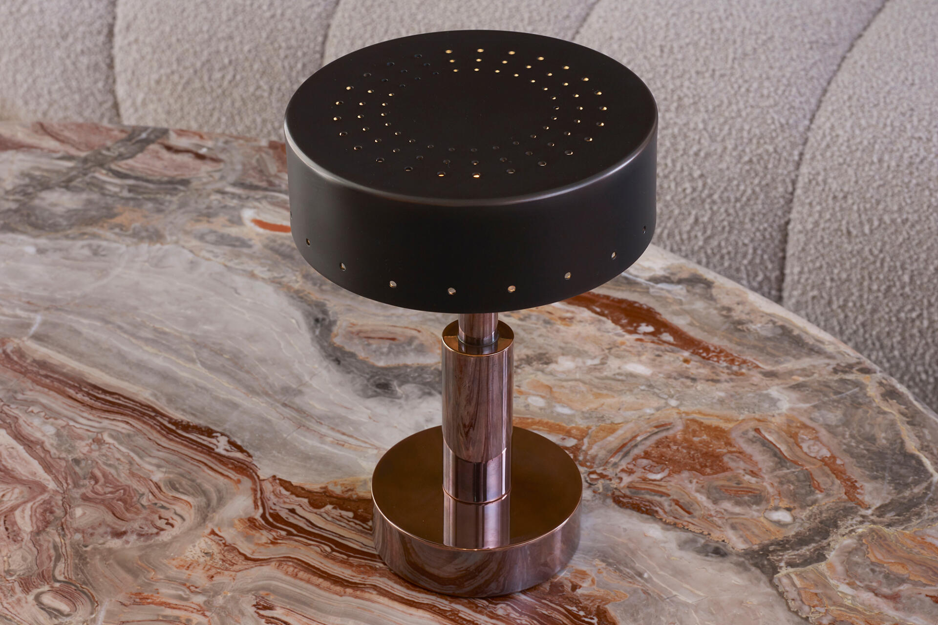 Mini Moderne in Blackened Copper made at our Collier Webb Foundry and available at our London showroom