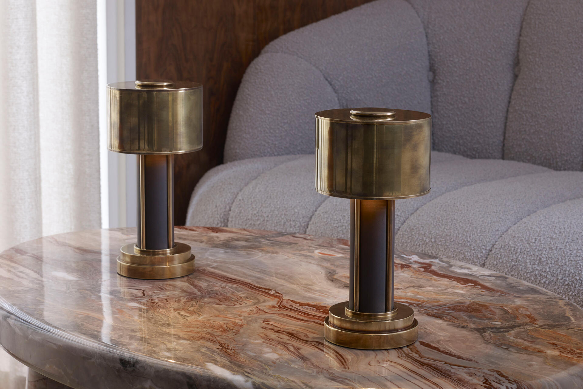 Mini Drum cordless rechargeable table lamps for hospitality