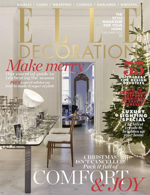 Collier Webb Mini Shitake rechargeable table lamp as seen in Elle Decoration December 2020