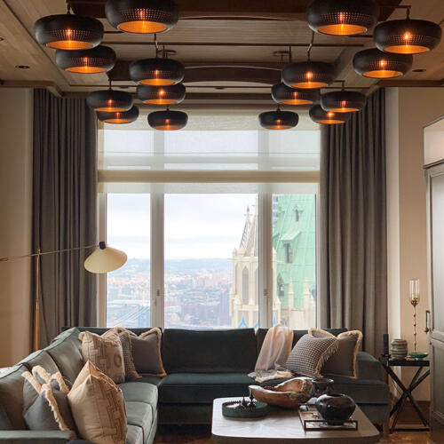 custom lighting manufacturer Collier Webb worked with Mulberry Black, New York