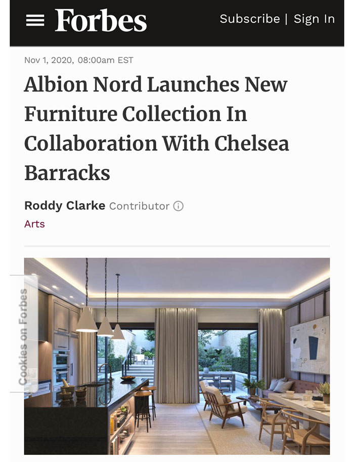 Albion Nord's Chelsea Barracks project featuring a bespoke desk worked on by Collier Webb