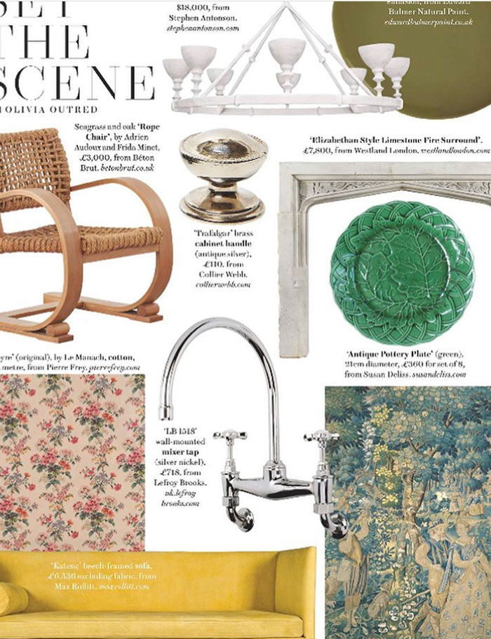 Collier Webb cabinet hardware as seen in House and Garden November 2020