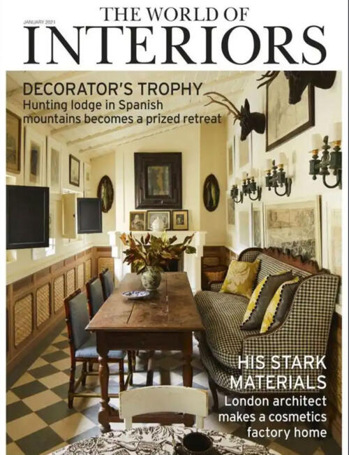Collier Webb portable table lamp in the January issue of The World of Interiors January 2021
