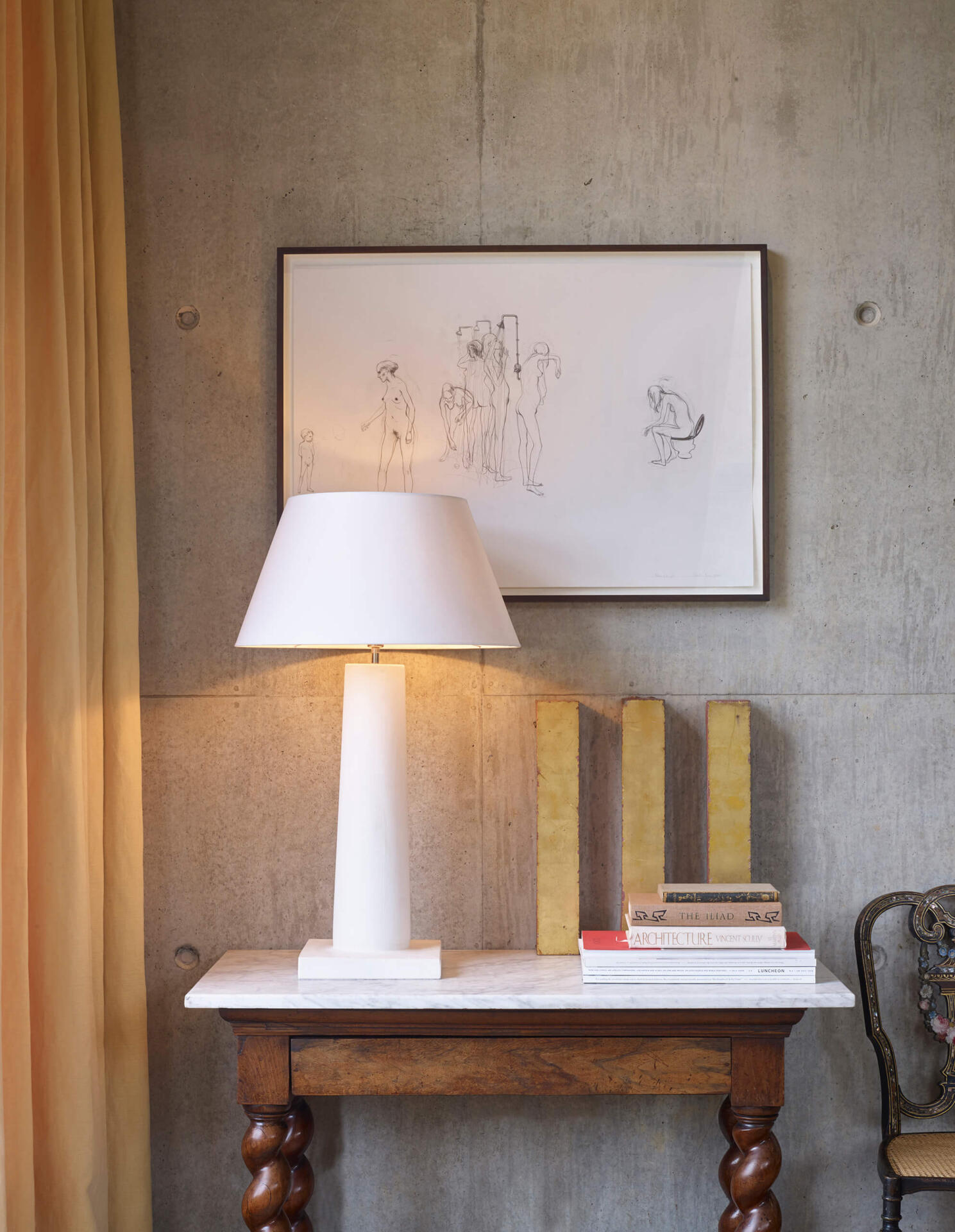 The Frank plaster table lamp by Collier Webb