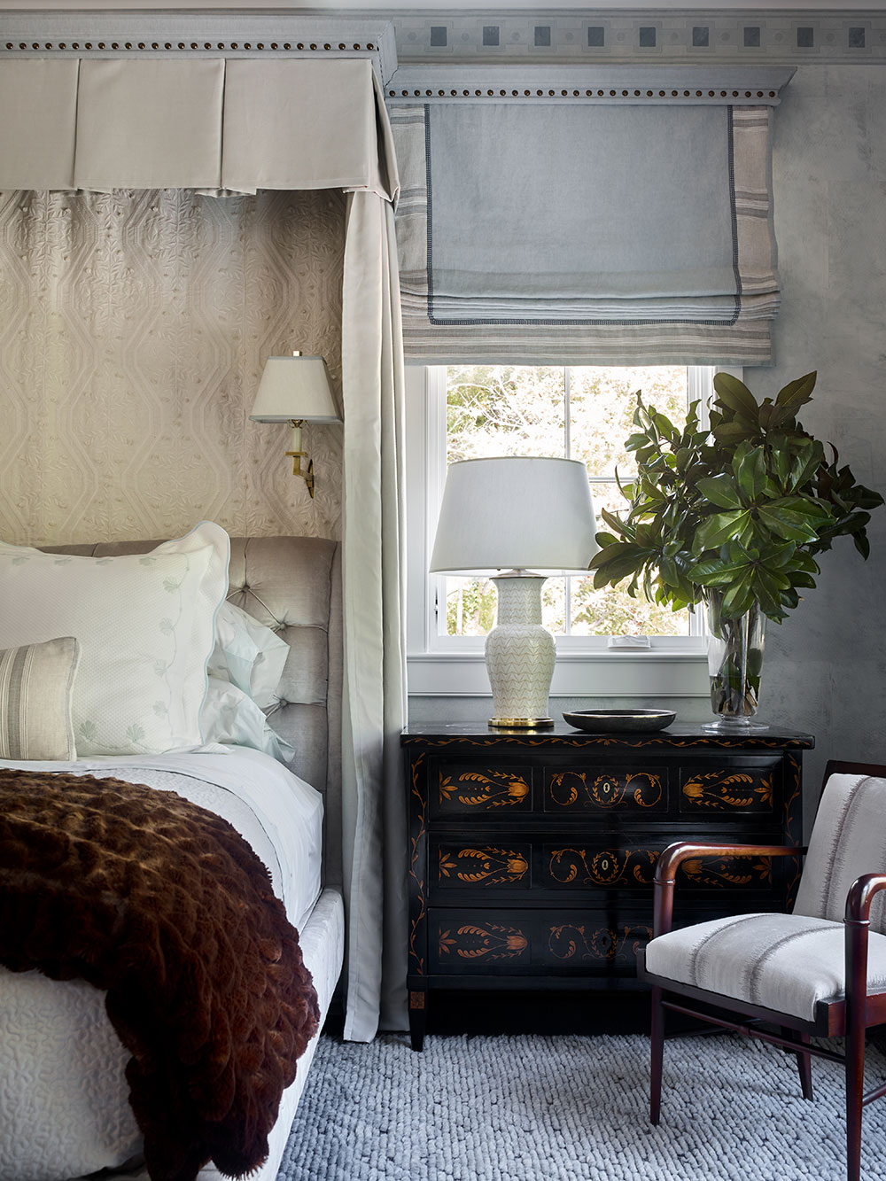 A master bedroom design by James Michael Howard